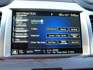 SYNC Sirius TravelLink Screen