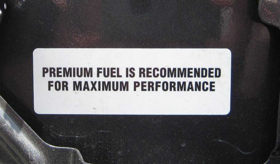 premium fuel re mended what do you use road reality