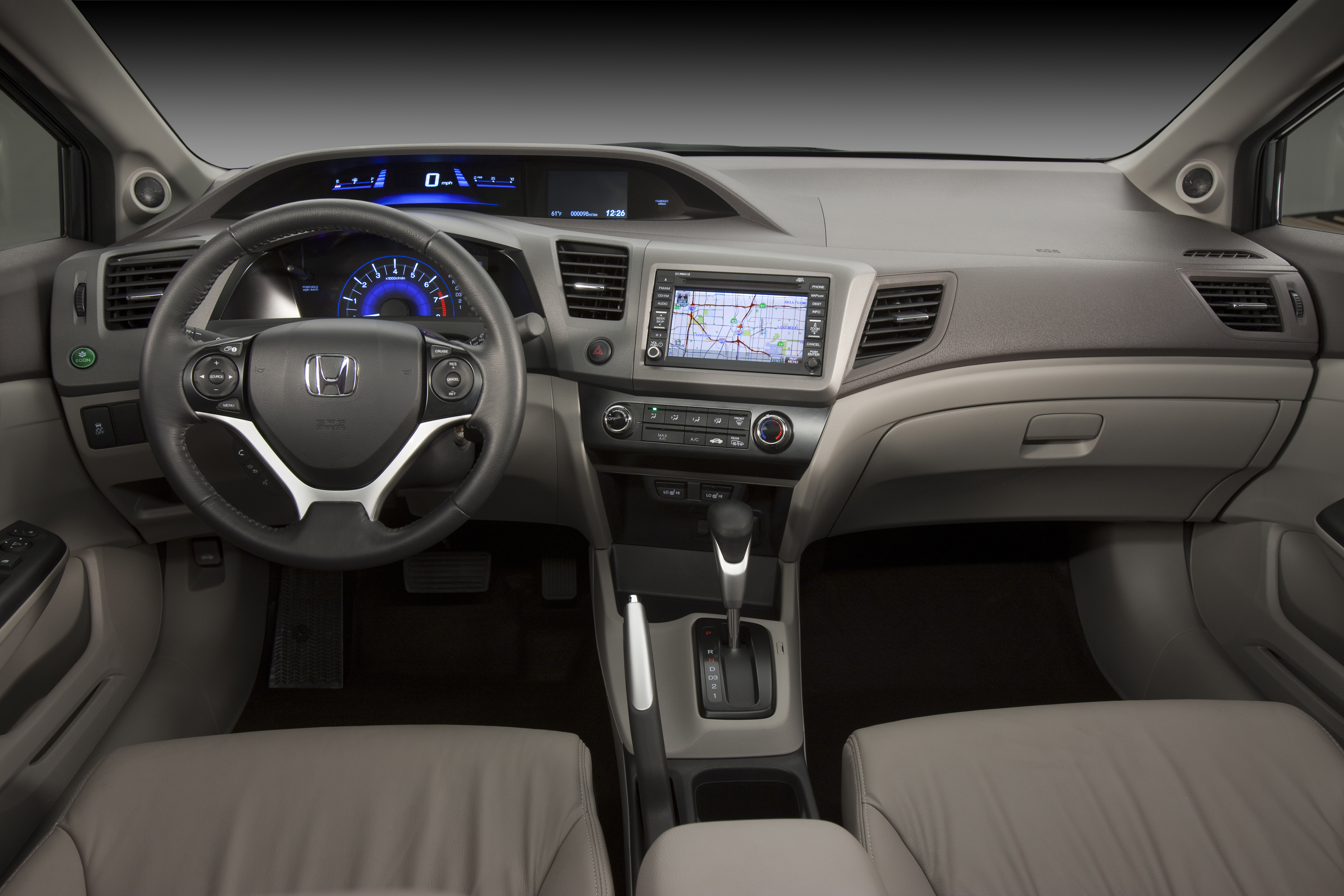 2012 Honda Civic EX L Sedan With Navigation Interior