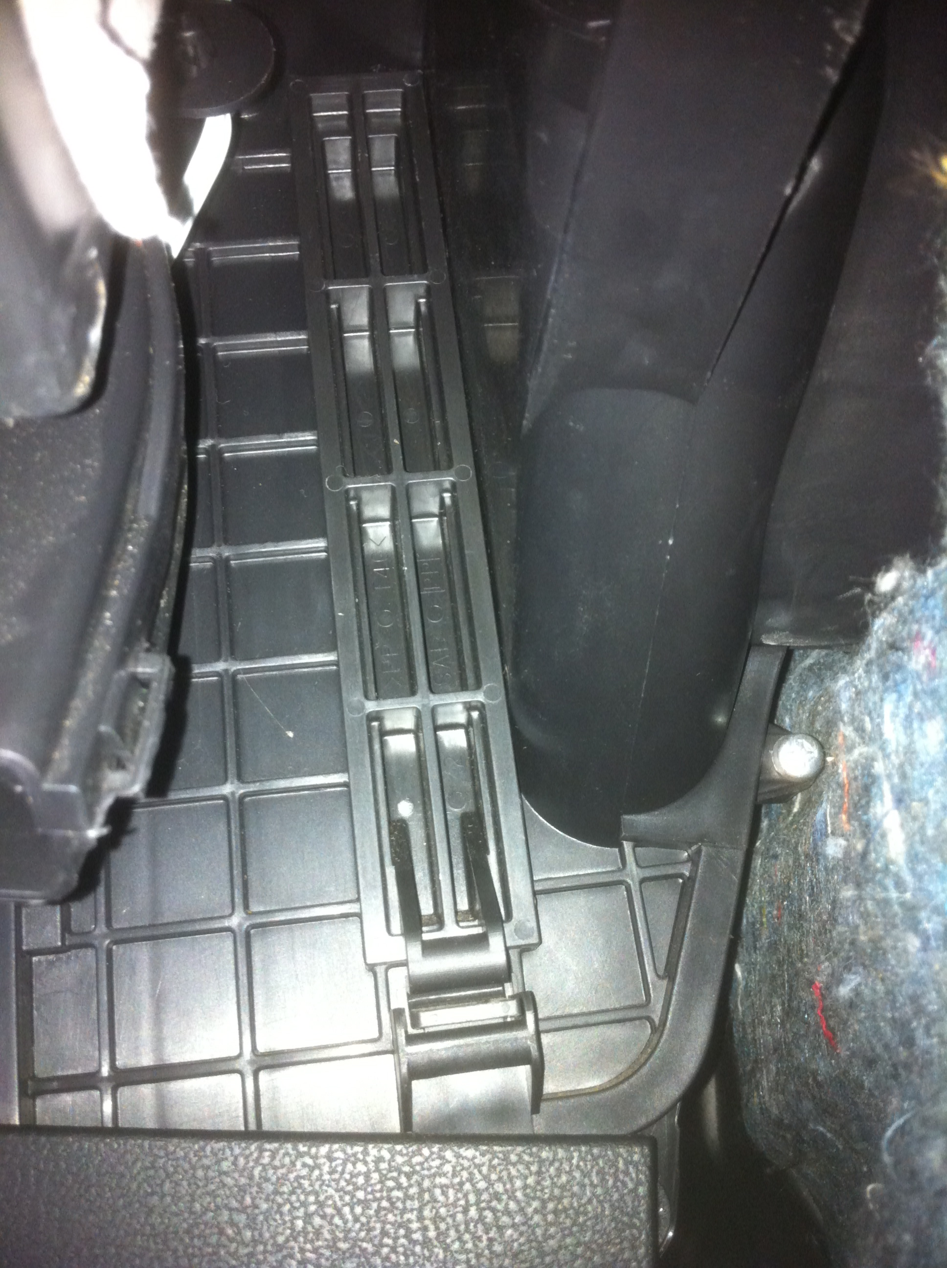 the cabin air filter door in a 2010 nissan maxima