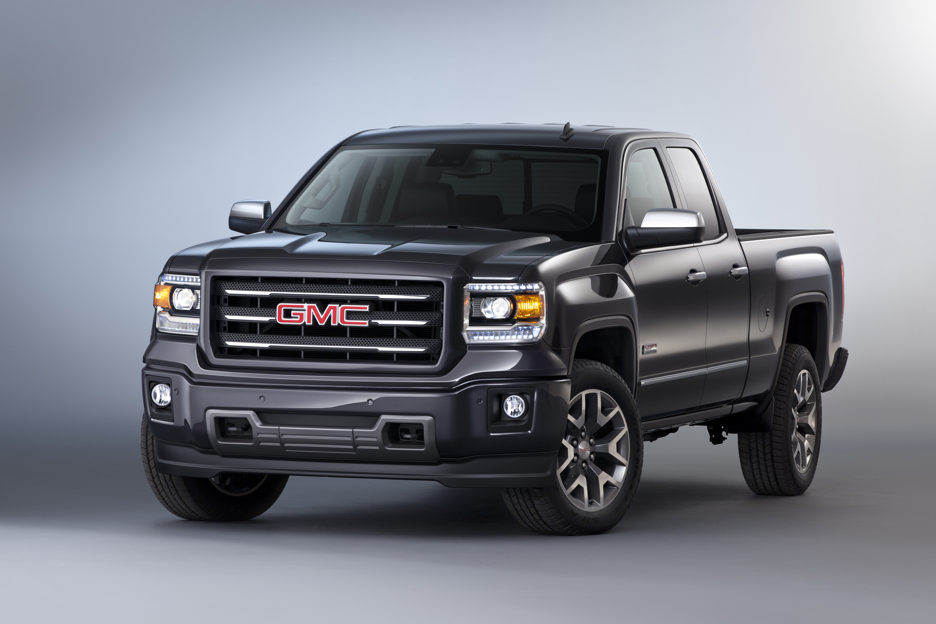 2014 gmc sierra all terrain extended cab front three quarter in road reality. Black Bedroom Furniture Sets. Home Design Ideas