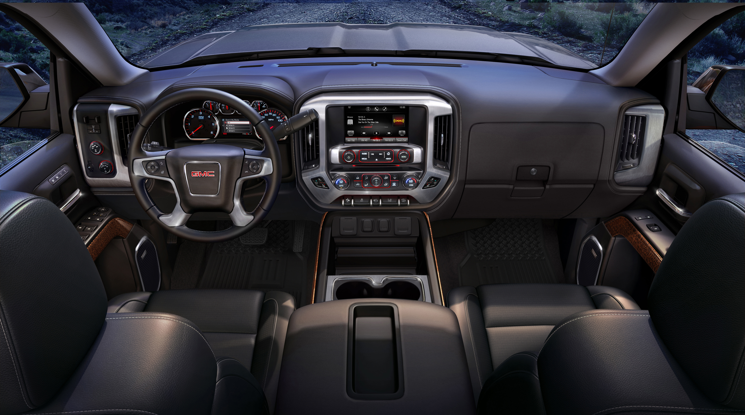 2017 Gmc Sierra Slt Interior Front Dash View From The Rear Seats