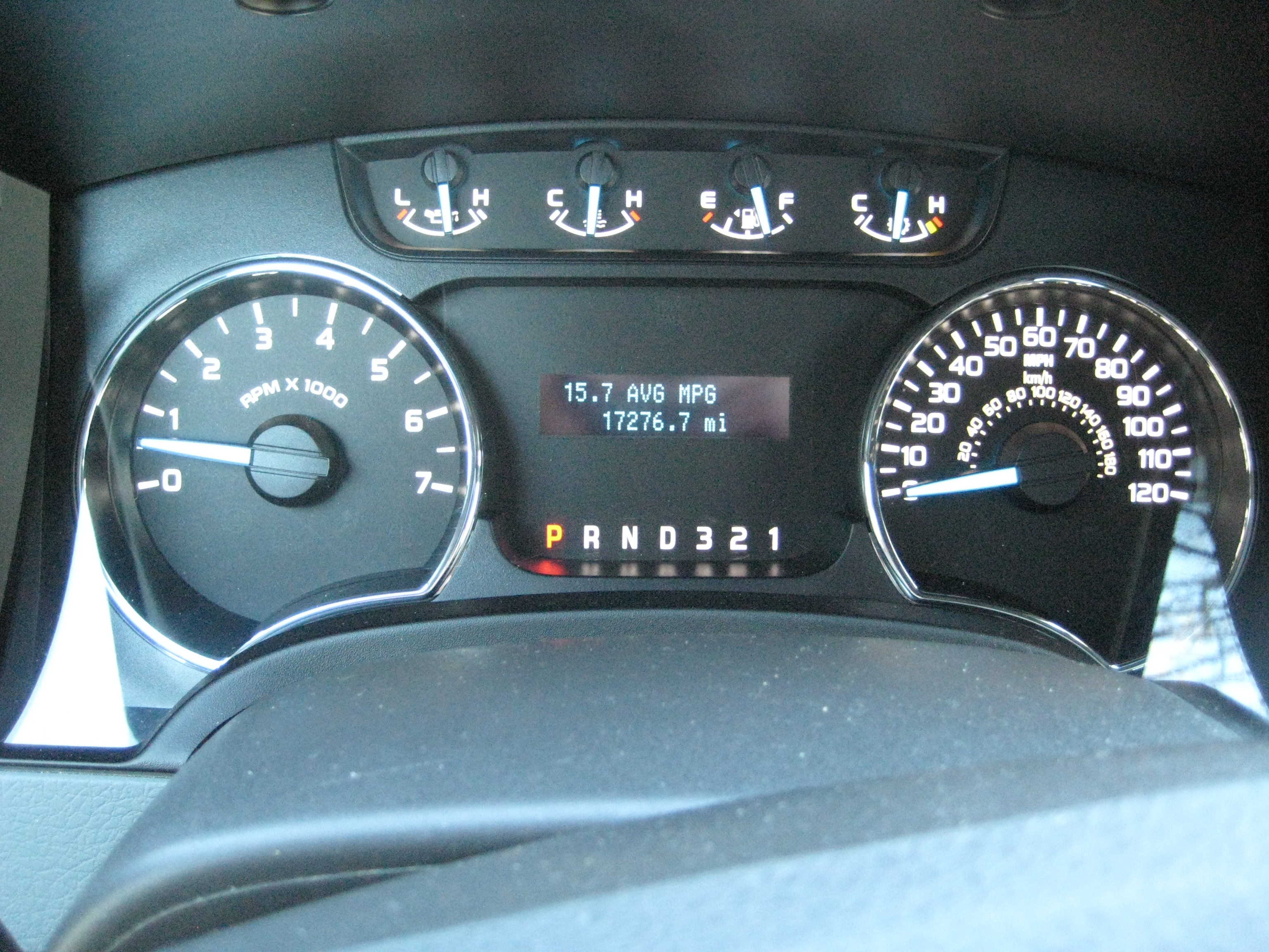 2012 Ford F 150 XLT Instrument Cluster review 2012 ford f 150 xlt road reality  at mifinder.co