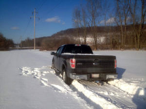 Stuck F-150 From Behind