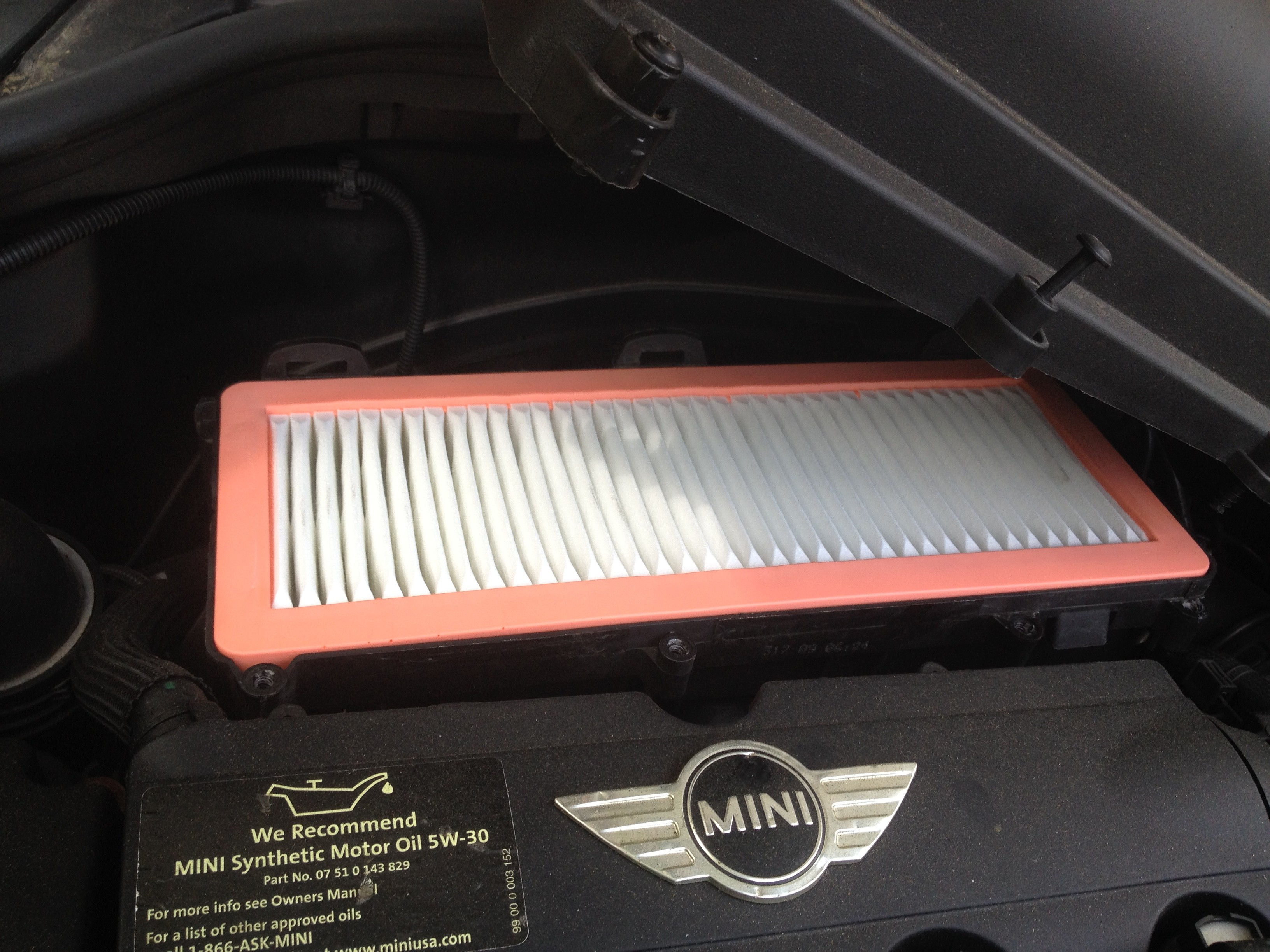 2010 mini cooper s engine air filter 2