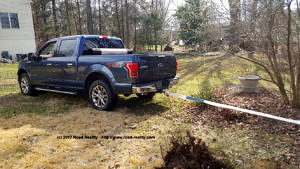 2015 Ford F-150 pulling stumps